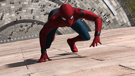 scene from Spiderman Homecoming