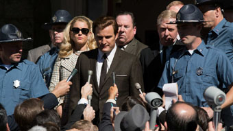 scene from press conference in Chappaquiddick film