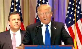 Chris Christie with Donald Trump