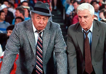 George Kennedy in a scene from Police Squad