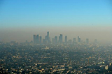 skyline view of air pollution in LA