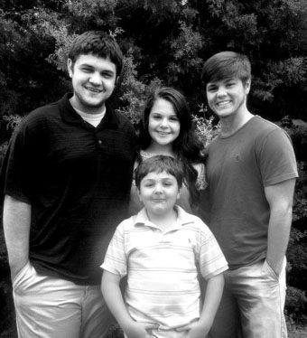 Blake Coatney with brothers and sister