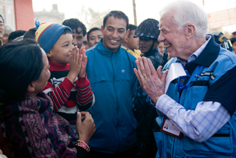 Former President Jimmy Carter in Nepal