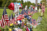 Flags at a Chattanooga Memorial