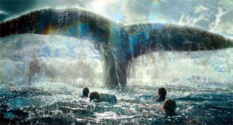 In the Heart of the Sea whale scene