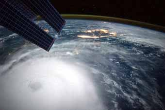 Hurricane Joaquin as seen from space