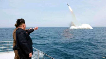 Sub Missile Launch