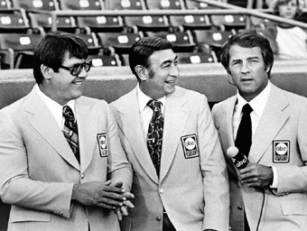 Alex Karras, Howard Cosell, and Frank Gifford