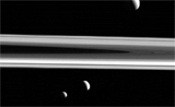 Saturns three moons
