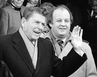 President Ronald Reagan with James Brady