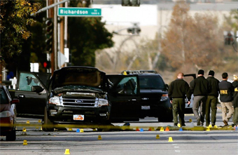 scene from San Bernandino mass shooting