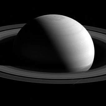 Saturn's serene surface
