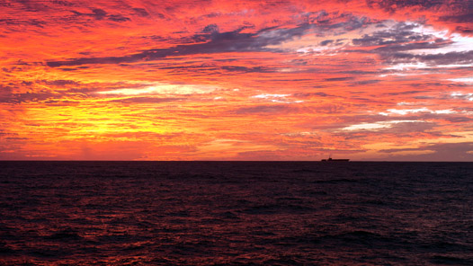Sunset from the USS Ronald Reagan