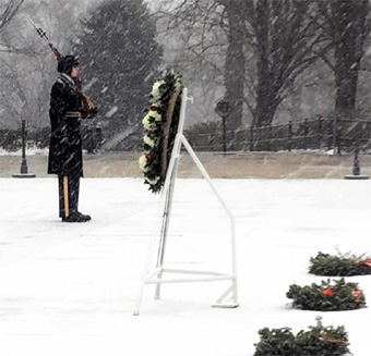 3rd US Infantry guard at the Tomb of the Unknown Soldiers