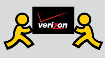verizon and aol merger art composite