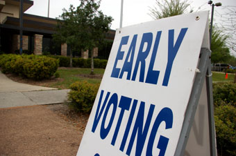 Voting Early sign